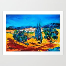 Sunny Day In Provence Art Print