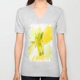 Pale Yellow Poinsettia 1 Serene Unisex V-Neck