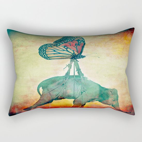 The elephant and the butterfly Rectangular Pillow