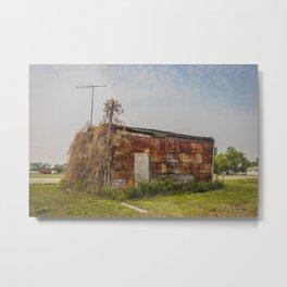 Stone Building, Regan, North Dakota 6 Metal Print