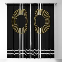 GUITAR IN ABSTRACT (geometric art deco) Blackout Curtain