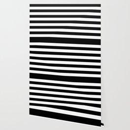 Horizontal Stripes (Black/White) Wallpaper
