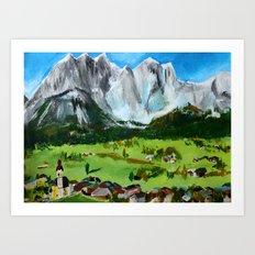 Austria Tyrol Mountains Art Print