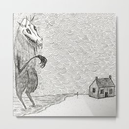 The Visitor Metal Print