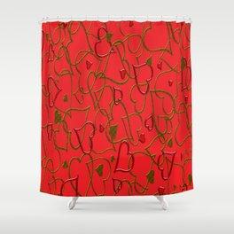 Herz Muster Shower Curtain