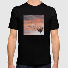 And the days went by MEDIUM Mens Fitted Tee Black