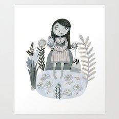 Princess and the Frog  Art Print