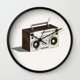Lo-Fi goes 3D - Boombox Wall Clock