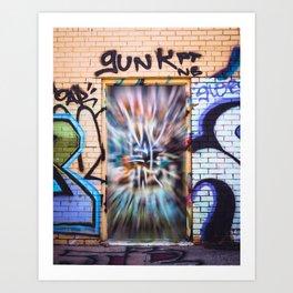 Graffiti Art on a Doorway Art Print