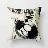 dj Throw Pillows featuring DJ! by Parrish