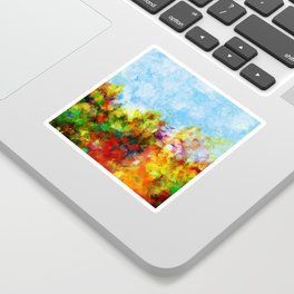 Colorful and Abstract Scenery Painting Sticker