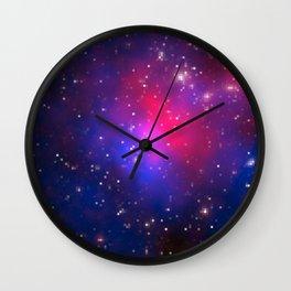 Galactic Squares #3 Wall Clock