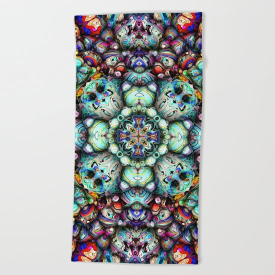 Textural Surfaces of Symmetry Beach Towel