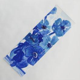 blue stillife Yoga Mat