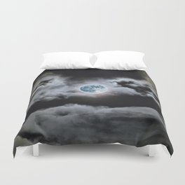 Blue Moon I Wonder Duvet Cover