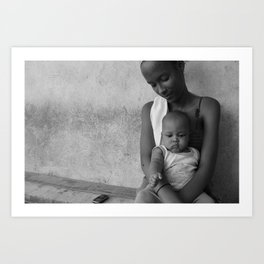 A Young Mother Art Print