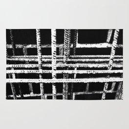 Rebar And Brick - Industrial Abstract Rug