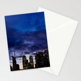 Skyline City Sunset Stationery Cards