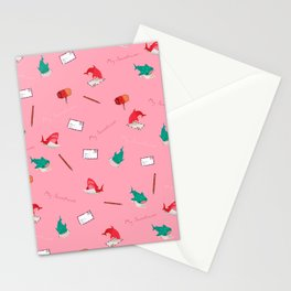 Pink Shark and Whale Shark Stationery Cards