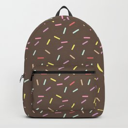 multicolored vermicelli and chocolate Backpack