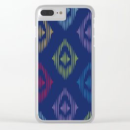 Colorful Boho Print Clear iPhone Case