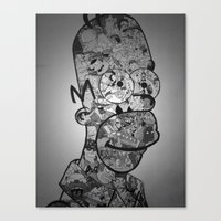 homer Canvas Prints featuring Homer by Drew Kochell