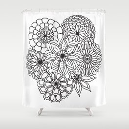 Equanimity / Flowers Shower Curtain
