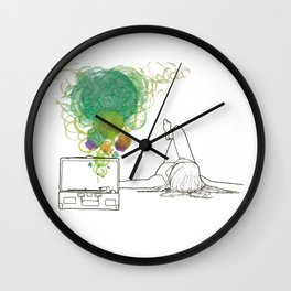 Record Playing Wall Clock