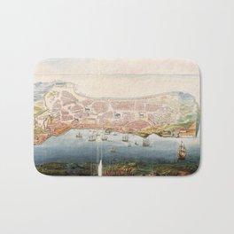 Vintage Pictorial Map of Macau China (1665) Bath Mat