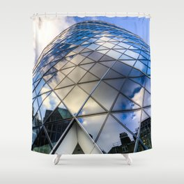 The Gherkin London Shower Curtain