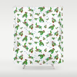 Holiday Sea Turtles Shower Curtain