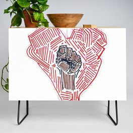 Untitled (Heart Fist) Credenza