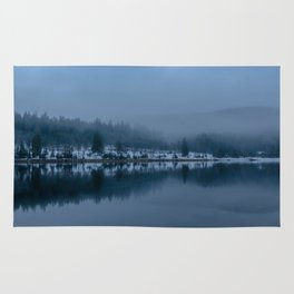 Reflections on a Lake - Landscape Photography Rug