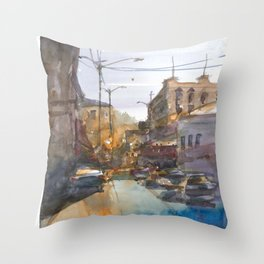 Urban Street Throw Pillow