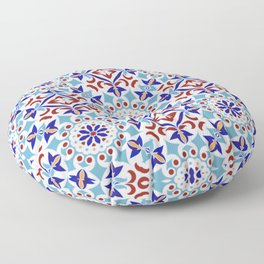 Moroccan Mosaic Tile Pattern Floor Pillow
