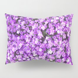 Pretty Purple Flowers, Purple Ground Cover, Beautiful Flowers Pillow Sham