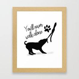 Dogwalker Framed Art Print