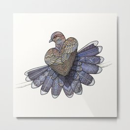 Turtle Dove Metal Print