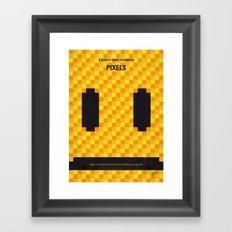 No703 My pixels minimal movie poster Framed Art Print