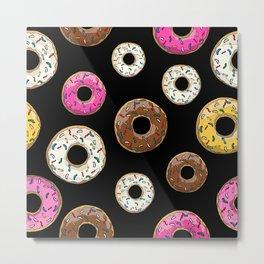 Funfetti Donuts - Black Metal Print