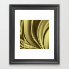 Abstract Fractal Colorways 02 Simple Gold Framed Art Print