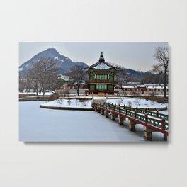 Winter Hyangwon-jeong, Gyeongbokgung Metal Print