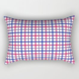 Queer Plaids - Bisexual Gingham Rectangular Pillow