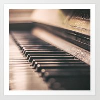 piano Art Prints featuring Piano by Juste Pixx Photography