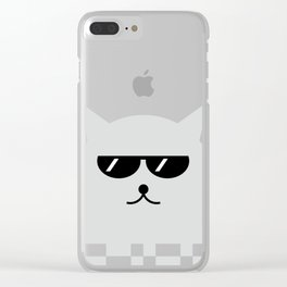 Cat With Glasses #society6 #decor #buyart #artprint Clear iPhone Case