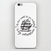hook iPhone & iPod Skins featuring Hook by Corina Rivera Designs