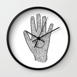 Hamsa / Hand Taurus Wall Clock