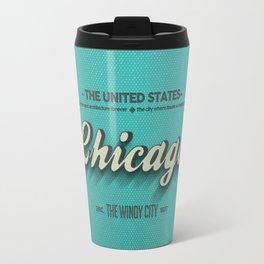 Vintage Chicago Travel Mug