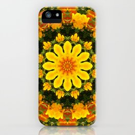 Floral mandala-style, California Poppies iPhone Case