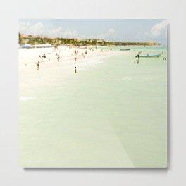 Seaside Swim Metal Print